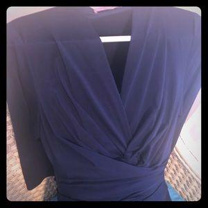 Eliza J Petite deep blue wrap dress
